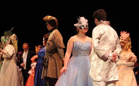 The cast of Cinderella performs in dress rehearsal the week before opening night, April 14.