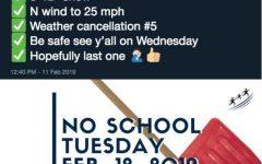 Teacher predicts five of six snow days