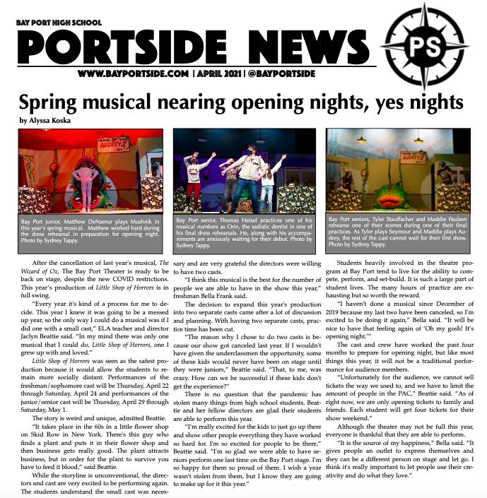 Portside: April 2021 Edition